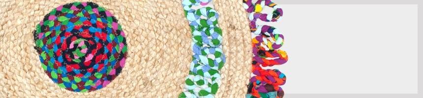 TAPIS à petit prix | Rond rectangulaire coloré motif ethnique