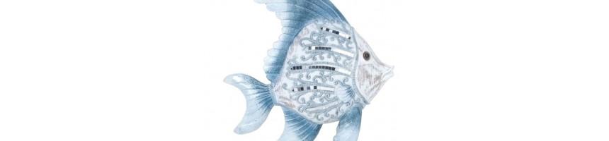 Décoration Bord de Mer   Statuette Marine poisson, phare, baigneuse